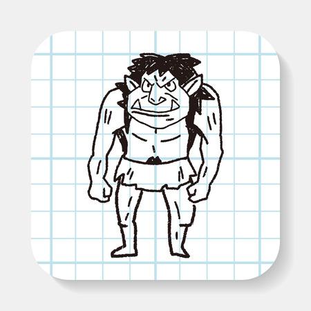 funny monster: monster doodle Illustration