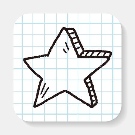 별: Doodle Star 일러스트