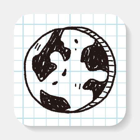 mail icon: Doodle Globe Illustration
