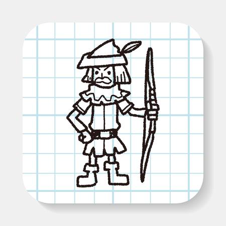 bowman: archer doodle