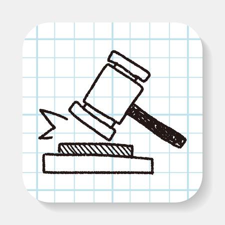 auction gavel: auction doodle