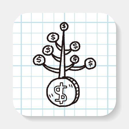 spring tree: money tree doodle