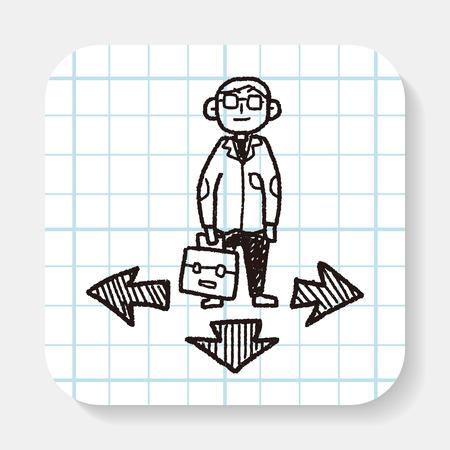 way: business way doodle
