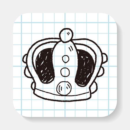 corona de princesa: corona del doodle Vectores
