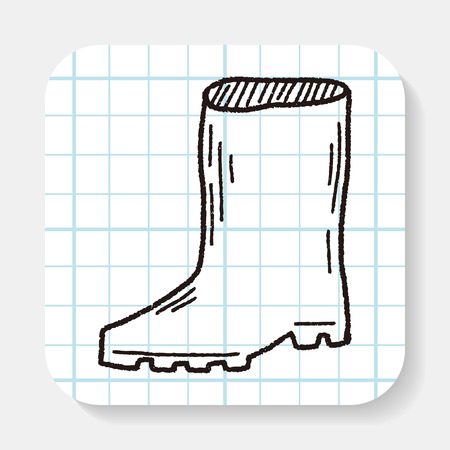 rain boots: rain boots doodle Illustration