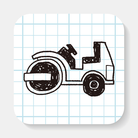 road paving: truck doodle Illustration