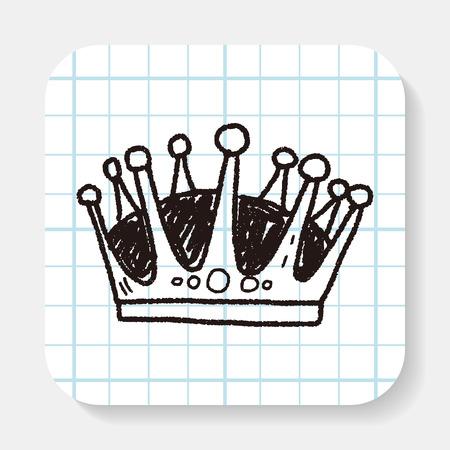 creative: crown doodle Illustration
