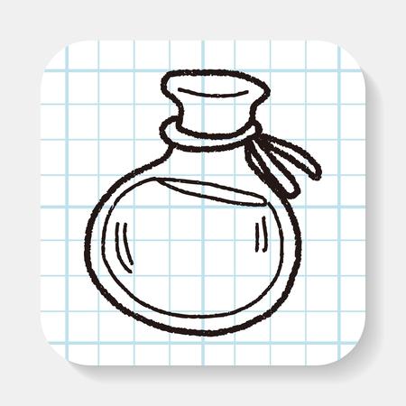poison symbol: potion doodle