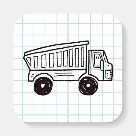 ciężarówka: ciężarówka doodle Ilustracja