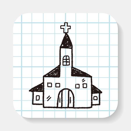 Chiesa di doodle Archivio Fotografico - 44916757