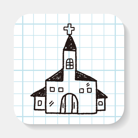 church building: church doodle