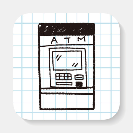atm: ATM doodle drawing