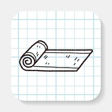 mat: yoga mat doodle