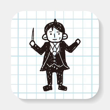 conductors: conductor doodle Illustration