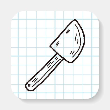 beater: Doodle batidor hornear Vectores