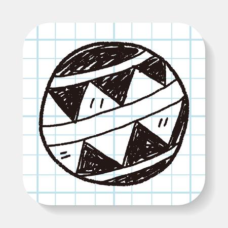 beachball: toy ball doodle Illustration