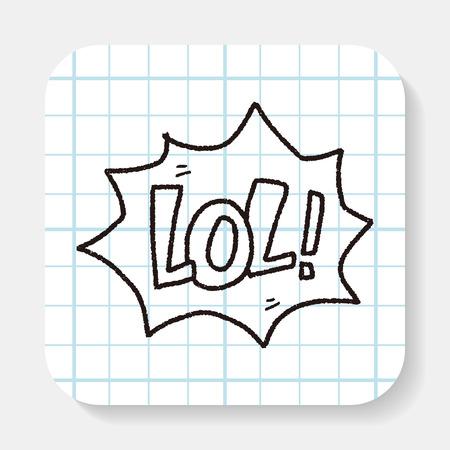 laugh out loud: lol doodle Illustration