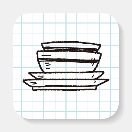 dishes: dishes doodle