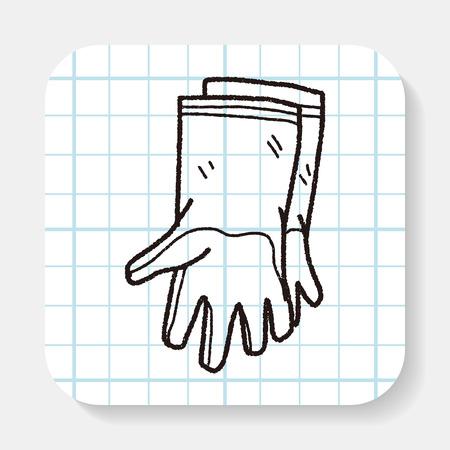 glove: clean glove doodle Illustration