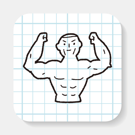 strong: Strong muscle doodle