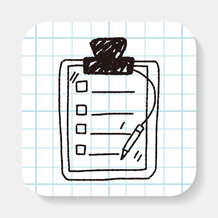 note pad: doodle document Illustration