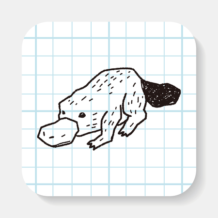 creature: platypu doodle Illustration