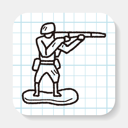 bubble speach: toy soldier doodle