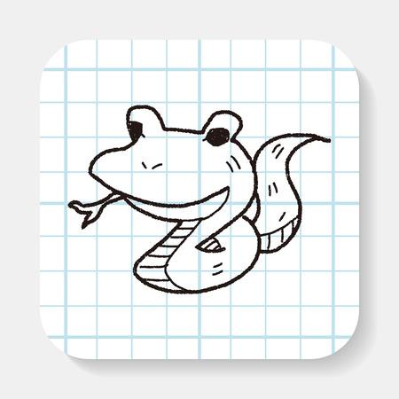 poison symbol: snake doodle