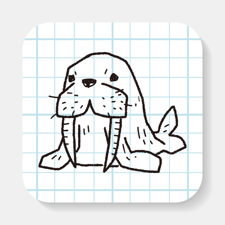 the walrus: walrus doodle