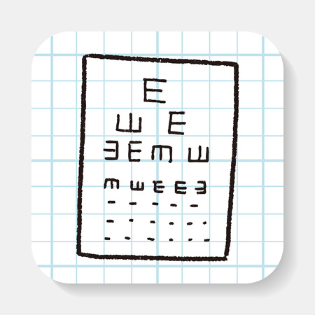 see a doctor: eye test doodle