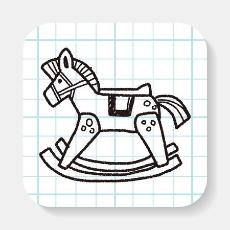 cheval à bascule doodle