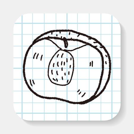 peach: peach doodle