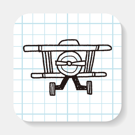 avi�n juguete: Doodle Toy Plane