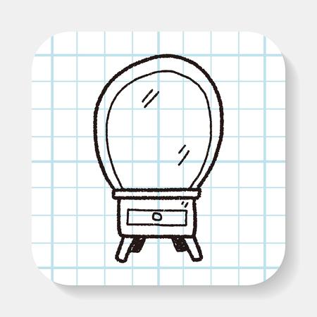 mirror: mirror doodle Illustration