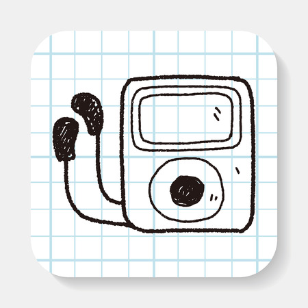 mp3 player: mp3 player doodle
