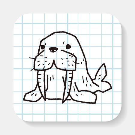 walrus: walrus doodle