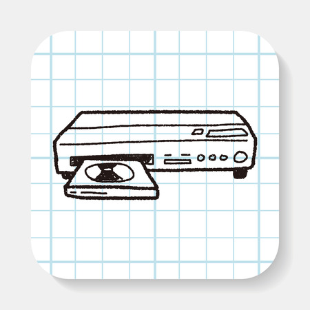 dvd player: dvd player doodle