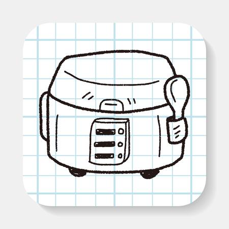 crock: cooker doodle Illustration