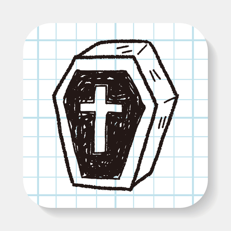 casket: Coffin doodle