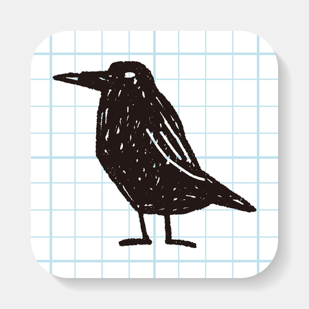 crow: crow doodle Illustration