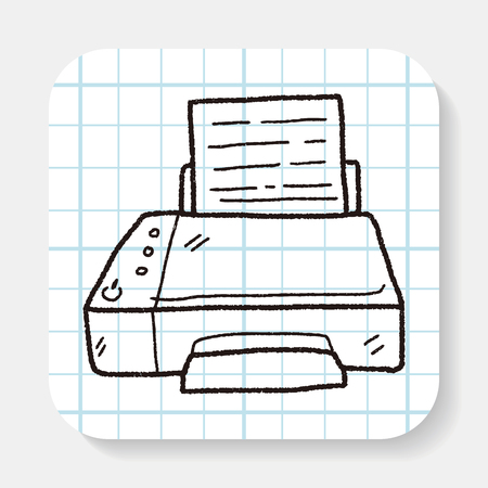 fax: fax doodle Illustration