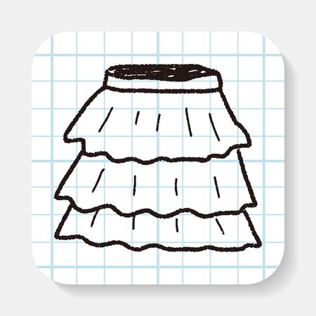 mini falda: doodle de falda