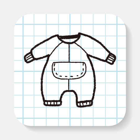 baby clothing: baby clothes doodle Illustration