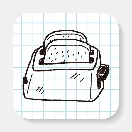 toaster doodle Illustration