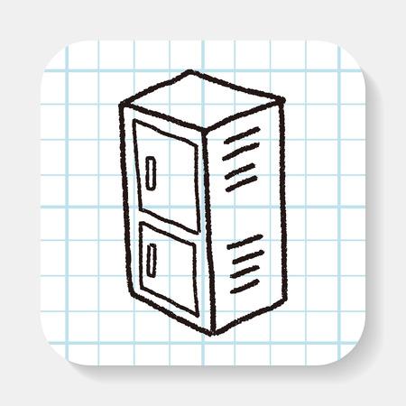 locker: locker doodle Illustration