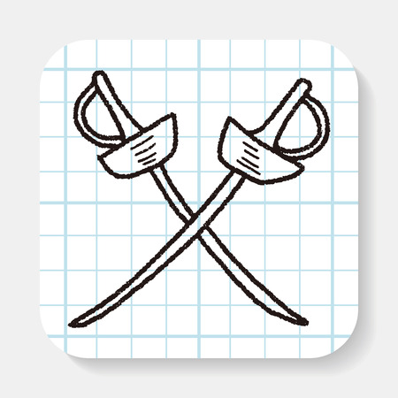 swordsmanship: fencing doodle