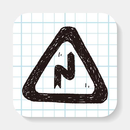 danger ahead: Winding Road doodle
