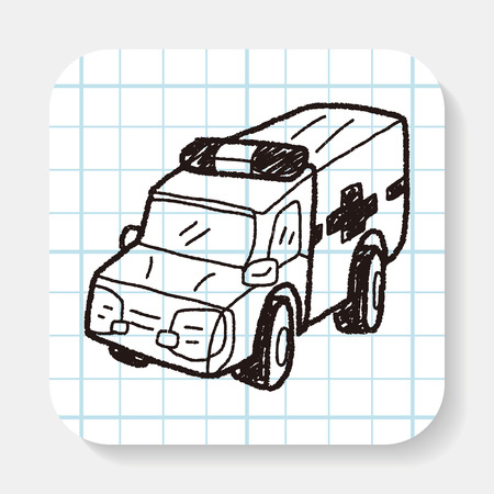 ambulance: Ambulance doodle