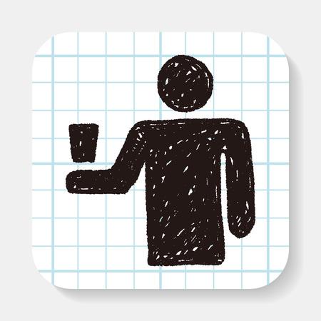 waiter: waiter doodle