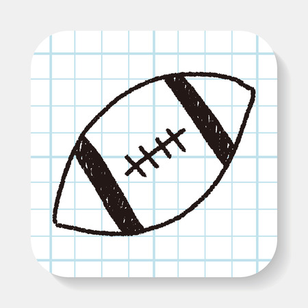 doodle: football doodle drawing